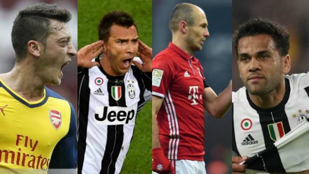 La UEFA eligió los mejores goles del torneo europeo. (Composición)