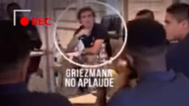 Antoine Griezmann no oculta su indiferencia por el título de Raphael Varane con el Real Madrid. (Captura)