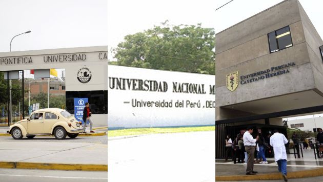 La Universidad Peruana Cayetano Heredia, la Universidad Nacional Mayor de San Marcos y la Pontificia Universidad Católica se mantienen dentro del QS World University Rankings del 2018. (USI)
