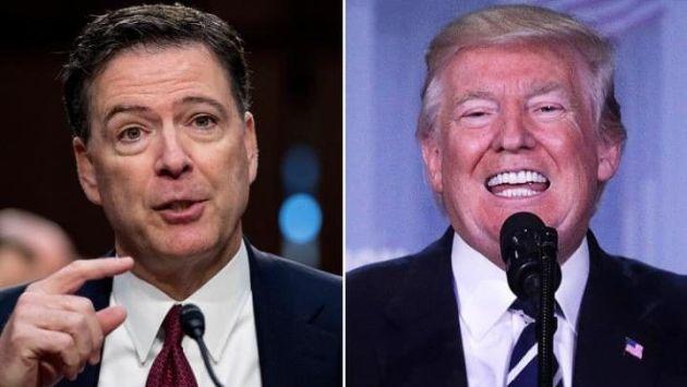 James Comey, ex presidente del FBI y Donald Trump, jefe de Estado estadounidense. (The Telegraph)