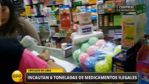 Decomisan más de seis toneladas de medicamentos adulterados. (Captura)