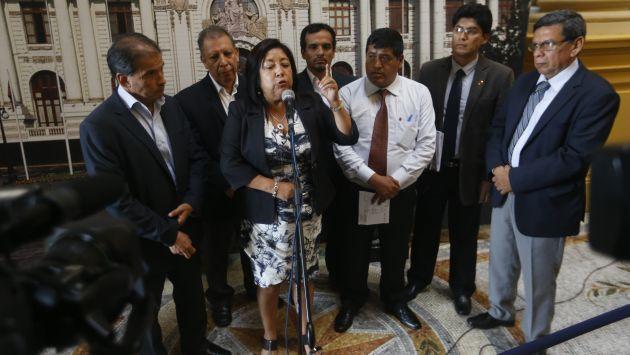María Elena Foronda pertenecería a la llamada facción liderada por Marco Arana. (USI)