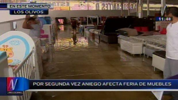 Los olivos comerciantes pierden productos tras aniego en for Feria de muebles