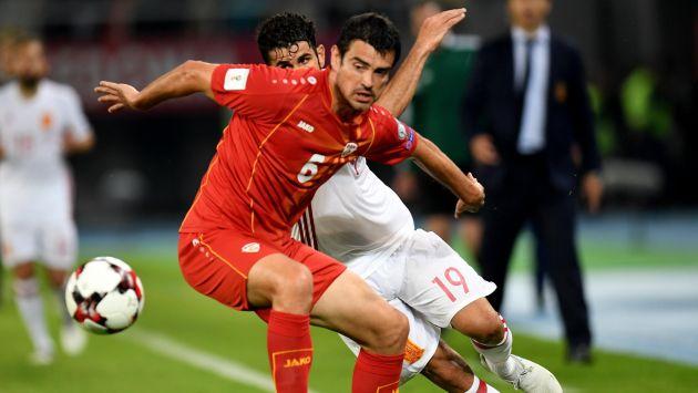España derrotó 2-1 a Macedonia y sigue liderando el grupo G. (EFE)