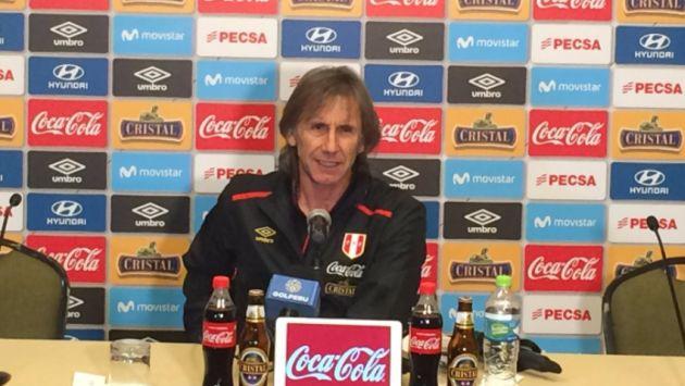 Ricardo Gareca, DT de la selección peruana, justificó la presencia de la 'blanquirroja' en Arequipa. (@SeleccionPeru)
