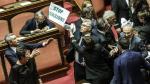 Italia: Congresistas pelean a golpes por ley que da nacionalidad a hijos de inmigrantes [Fotos y Video] - Noticias de cámara de diputados