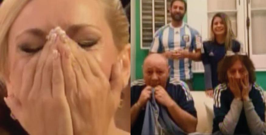 La bailarina no contuvo las lágrimas de emoción. (Foto: Captura de pantalla)