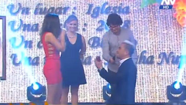 'Fábrica de Sueños': Tommy Portugal le propuso matrimonio a Estrella Torres. (ATV)