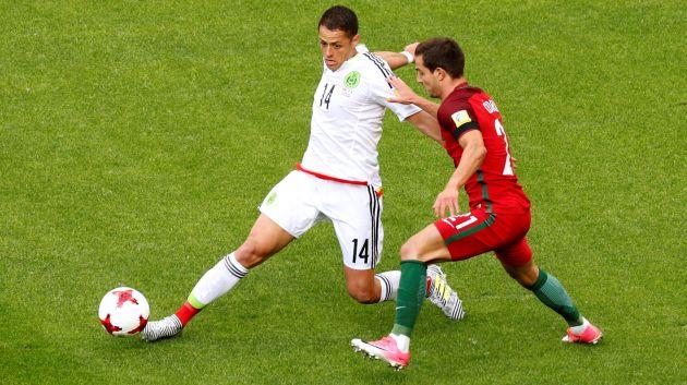 Chicharito marcó a los 42 minutos. (Reuters)