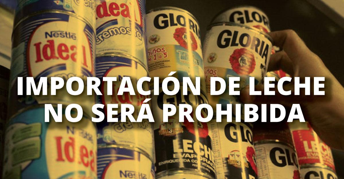 Leche evaporada no subiría de precio. (Perú21)