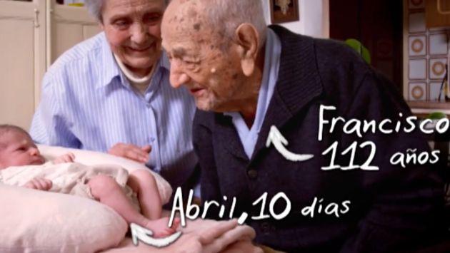 Francisco nació en 1904 y vio al hombre llegar a la luna cuando tenías 65 años.