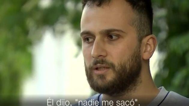 Hermano de Mohammed Alhajal no pudo contener las lágrimas al hablar de la muerte de su hermano. (Captura)