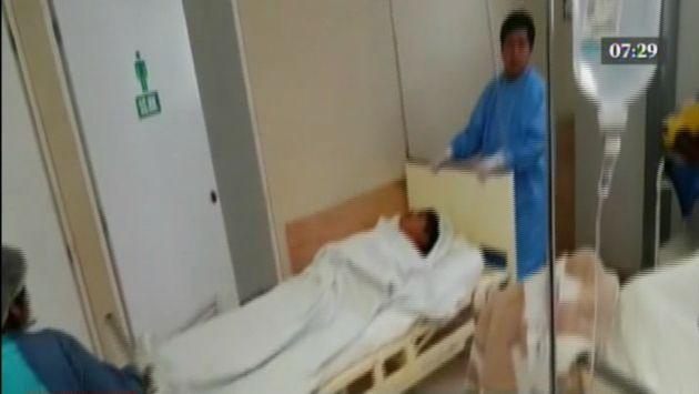 Sujeto se encuentra internado en el hospital. (Captura América TV)