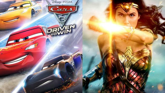 'Cars 3' superó a 'Wonder Woman' en taquilla de Estados Unidos (Composición)
