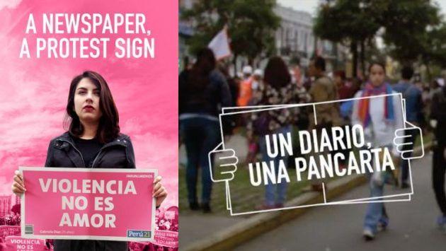 Nuevo premio por campaña NiUnaMenos de Perú21. (Composición)