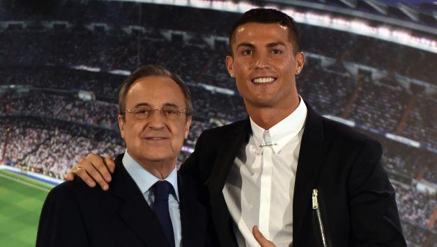 Florentino Pérez, máximo directivo del Real Madrid, comentó la posible partida de Cristiano Ronaldo. (AFP)