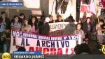 'Ley pulpín 2.0': Así se realizó la marcha contra la iniciativa legislativa [Video] - Noticias de régimen laboral juvenil