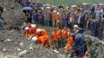 Más de cien personas quedaron enterradas por alud en China