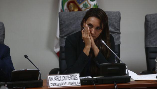 Junto a Roberto Vieira, Patricia Donayre y Yeni Vilcatoma forman el grupo de congresistas sin bancada. (Renzo Salazar)