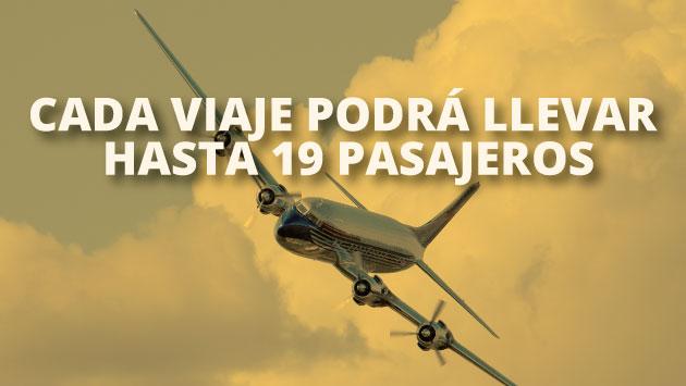 Estos vuelos serán operados por la empresa ATSA Airlines bajo la modalidad chárter.