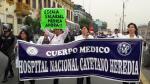 Médicos del Minsa inician huelga indefinida con plantón frente al hospital San Bartolomé [FOTOS Y VIDEO] - Noticias de patricia salas