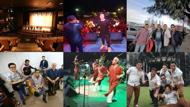 Cinco grupos de cumbia en el Gran Teatro Nacional.