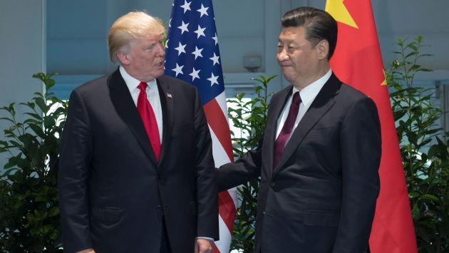 Donald Trump, presidente de EE.UU. y Xi Jinping, mandatario chino (AFP).