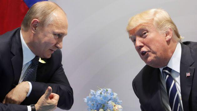 "Donald Trump: ""Presioné duramente al presidente Vladimir Putin"". (AFP)"