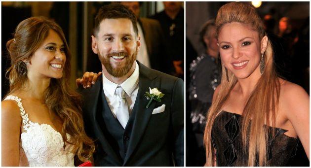 Un curioso detalle podría desmentir la enemistad entre Antonella Roccuzzo, esposa de Lionel Messi, y Shakira. (GETTY)