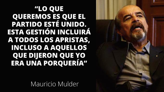 Mauricio Mulder asegura que la elección en el Apra no fue irregular (Roberto Cáceres).