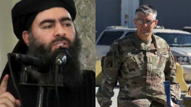Stephen Townsend, aseguró desde Bagdad que no sabe si Al Bagdadi está vivo o muerto.