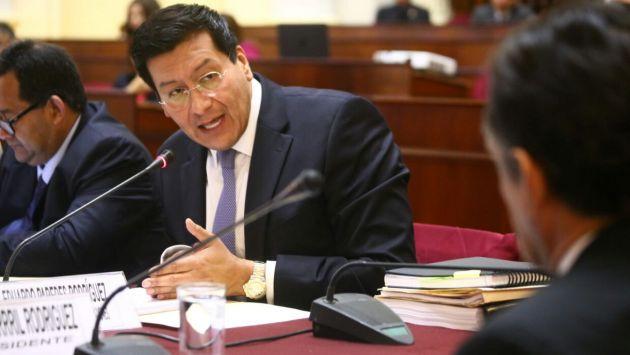 Ex ministro Paredes se presenta ante la Comisión de Fiscalización (Congreso)