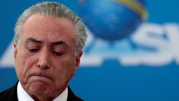 Brasil: Comisión de la Cámara Baja rechaza juicio a Michel Temer (Reuters)