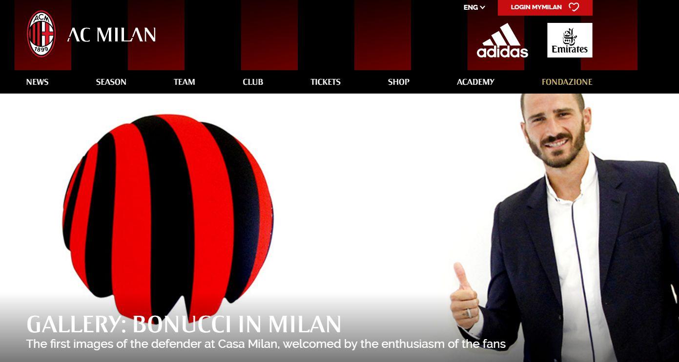 Leonardo Bonucci se convierte en nuevo futbolista del AC Milan