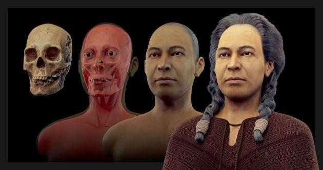 Explicaron paso a paso el proceso de recreación del rostro de la dama de K'anamarka (Difusión)