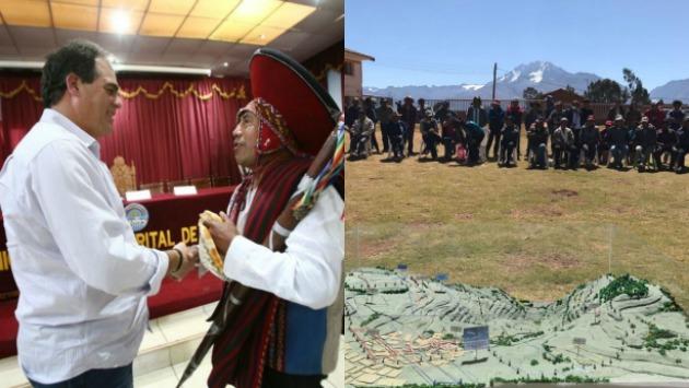 Viceministro Rafael Guarderas se reunió con los representantes de las comunidades. (MTC)