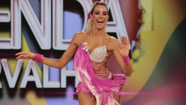La bailarina se llevó todos los aplausos con su presentación de salsa. (El Gran Show)