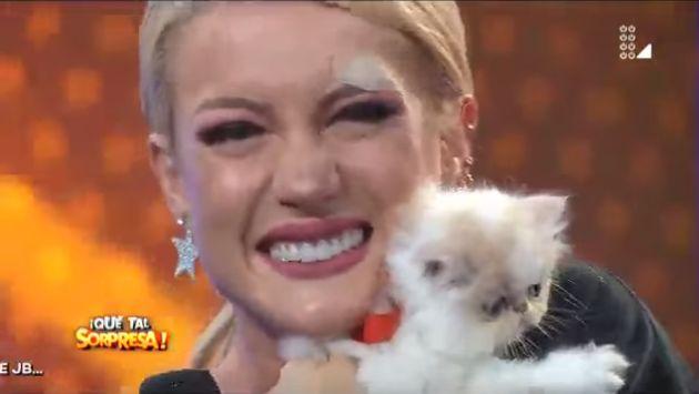 Leslie Shaw recibió tierna regalo durante el programa 'Qué tal sorpresa'. (USI)