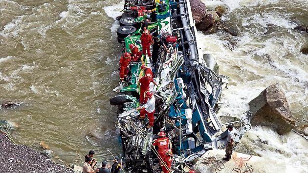 Amazonas: Caída de bus a río deja 8 fallecidos y más de 30 heridos. (Difusión)