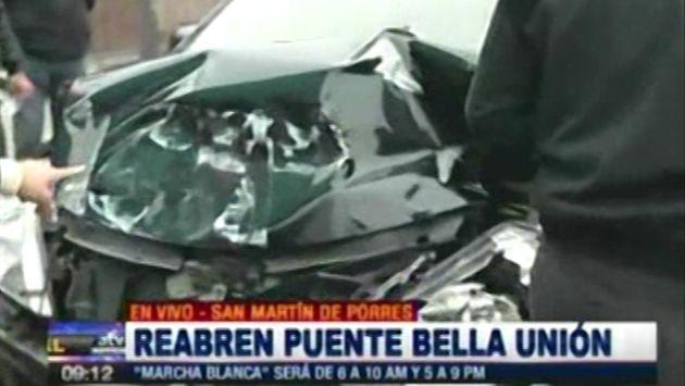 Reabren puente Bella Unión y poco después ocurre un accidente de tránsito. (ATV)