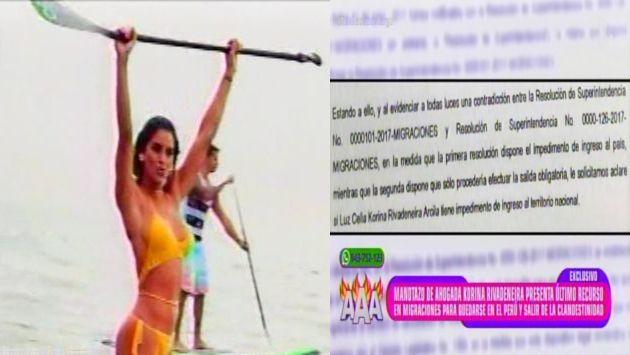 Korina Rivadeneira sigue luchando por quedarse en nuestro país. (Latina)
