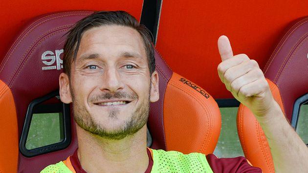 Totti jugó 786 partidos con la Roma y marcó 307 goles. (Gettyimages)