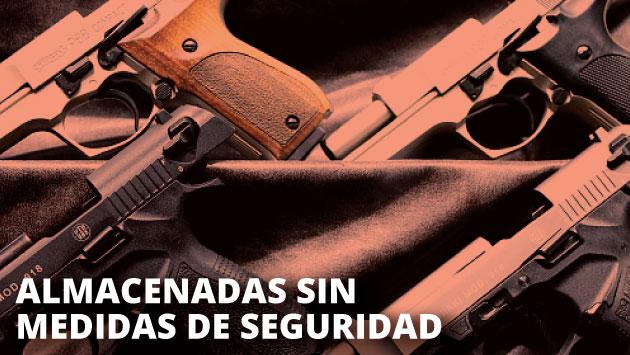 La Sucamec decomisó estas armas por no contar con las medidas de seguridad requeridas para su almacenamiento. (USI)