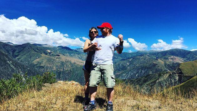 Ed Sheeran compartió una tierna imagen de su estadía en Perú junto a su novia (Instagram)