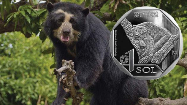 Nueva moneda de S/1 con la figura del oso andino de anteojos es puesta en circulación. (USI)