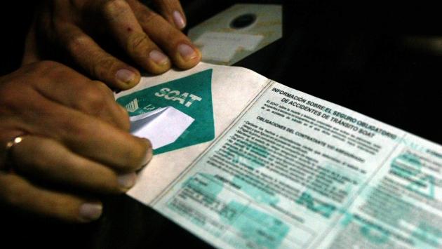 Empresas aseguradores deberán iniciar la venta del SOAT electrónico a partir del 30 de julio. (USI)