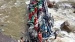 Caída de bus a río dejó 8 fallecidos y más de 30 heridos en Amazonas - Noticias de tarapoto