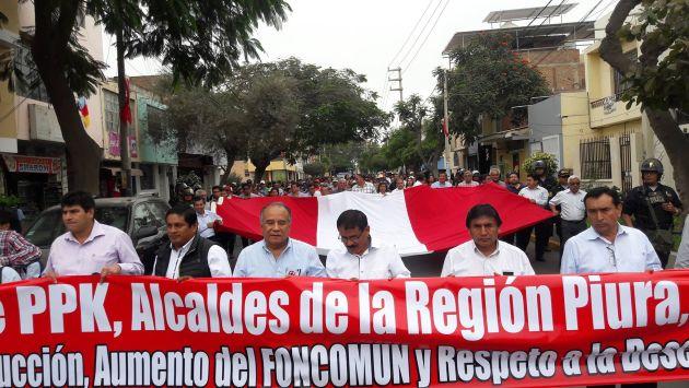 Movilización fue encabezada por Óscar Miranda. (USI)