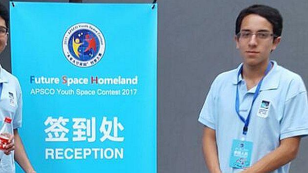 Sebastián Cueva Obando tiene 16 años y es alumno de la institución educativa FAP José Quiñones. (Mindef)