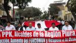 Alcaldes de Piura marchan para exigir al Ejecutivo acelerar labores de reconstrucción - Noticias de desborde